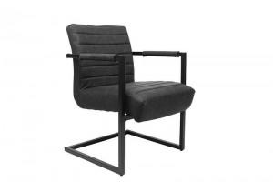 Stuhl-Sessel schwarz, Stuhl schwarz Industriedesign,  Sessel schwarz, Freischwinger schwarz Industriedesign