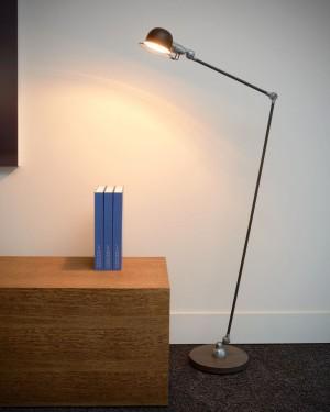 Stehleuchte rost-braun, Stehlampe braun, Höhe 130 cm