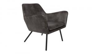 Sessel schwarz Metallgestell schwarz mit Armlehne, Sitzhöhe 42 cm