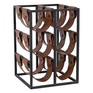 Weinregal schwarz, Weinflaschen-Regal schwarz, Breite 90 cm