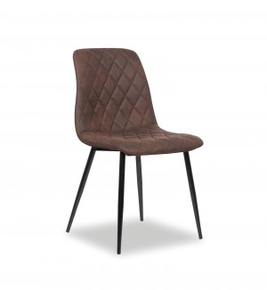 Stuhl braun, Esszimmerstuhl braun, Stuhl gepolstert braun