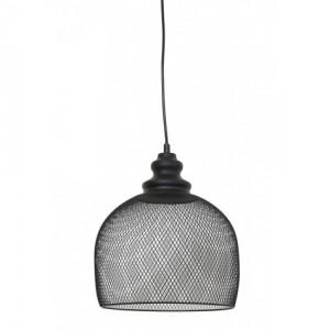 Pendelleuchte schwarz Metall, Hängelampe Metall schwarz,  Lampe schwarz, Durchmesser 28 cm