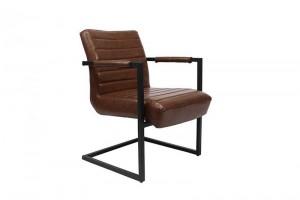 Stuhl-Sessel braun, Stuhl braun Industriedesign,  Sessel braun, Freischwinger braun