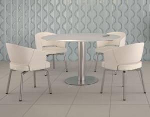 Sessel weiß PU Stoff, Stuhl weiß gepolstert, Sessel drehbar weiß