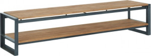 Lowboard Industriedesign Metall Holz, Fernsehregal Industriedesign, TV Regal Industriedesign, Breite 220 cm