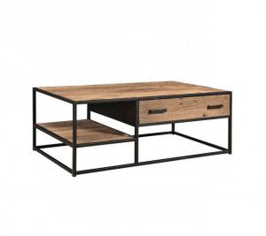 Couchtisch Industriedesign, Couchtisch Metall-Gestell, Tisch Industrie, Breite 120  cm