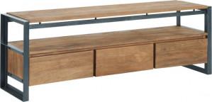 Lowboard mit Schubladen Industriedesign, Fernsehregal Industriedesign, TV Regal Industriedesign, Breite 180 cm