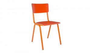 Metall Stuhl orange, Stuhl orange Metall, Objekt Stuhl orange