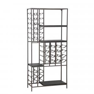 Weinregal Metall Industriedesign, Metall Weinregal, Breite 86 cm