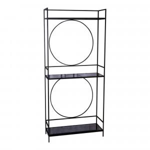 Regal schwarz Metall Industriedesign, Metall Regal, Breite 80 cm