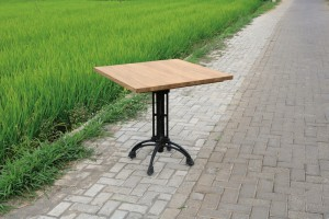 Bistrotisch Teakholz, Tisch quadratisch Teak, Bistrotisch Holz Teak, Maße 80x80 cm