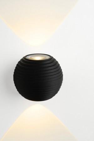 LED Außenleuchte schwarz, LED Wandleuchte schwarz,  LED Wandlampe schwarz