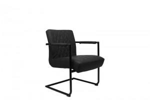 Stuhl-Sessel schwarz, Sessel schwarz, Stuhl schwarz  Industriedesign, Freischwinger Sessel schwarz Industriedesign
