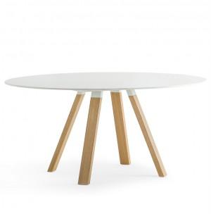 Tisch weiß rund , Esstisch rund weiß, Konferenztisch rund weiß, Durchmesser 159 cm