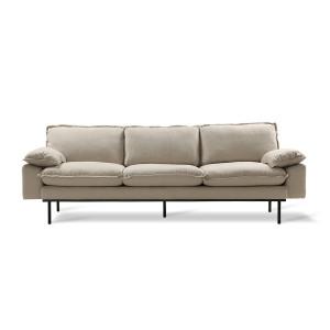 Sofa beige 4er Sitzer, Sofa retro  Breite 245 cm