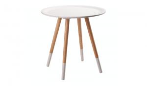 Beistelltisch rund, Beistelltisch weiß rund, Durchmesser 48 cm