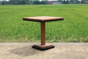 Bistrotisch Teakholz, Tisch quadratisch Teak, Bistrotisch Holz Teak, Maße 70x70 cm