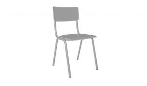 Metall Stuhl grau, Stuhl grau Metall, Objekt Stuhl grau