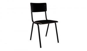 Metall Stuhl  schwarz, Stuhl schwarz Metall, Objekt Stuhl schwarz