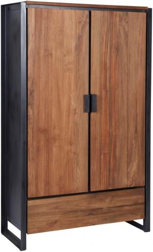 Schrank Industriedesign, Bücherschrank Metall Holz, Breite 100 cm
