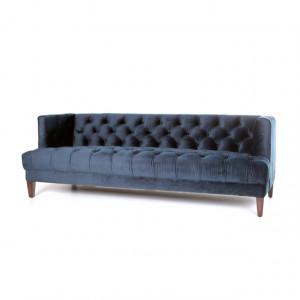 Chesterfield Sofa blau, Sofa blau Chesterfield, Breite 214 cm