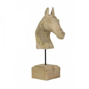Deko Pferdekopf Holz, Pferdekopf Deko-Objekt,  Höhe 48 cm
