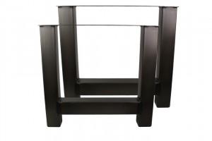 Tischbeine 2er Set schwarz Metall Industriedesign, Metall Tischbeine für Esstisch Industrie Metall