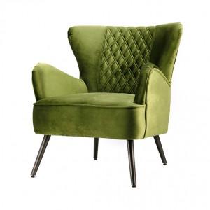 Sessel grün, Sessel mit Armlehne grün, Retro-Sessel grün