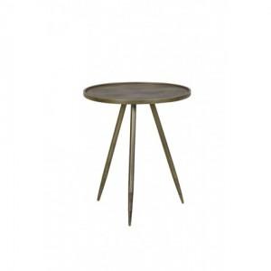 Beistelltisch Gold rund, runder Beistelltisch Gold, Metall Beistelltisch rund, Durchmesser 39 cm