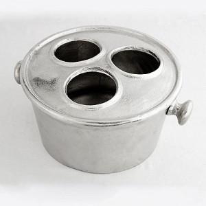 Champagnerkühler Silber, Sektkühler Silber, Weinkühler Silber, Durchmesser 30 cm