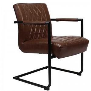Stuhl-Sessel braun, Sessel braun, Stuhl braun Industriedesign, Freischwinger Sessel braun Industriedesign