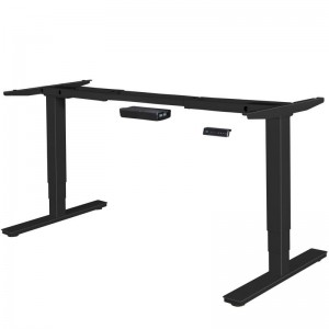 Tischgestell elektrisch höhenverstellbar, höhenverstellbares Tischgestell schwarz, Tisch höhenverstellbar 63 – 128 cm