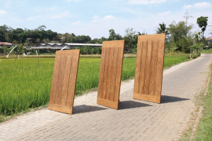 Tischplatte Teakholz, Garten-Tischplatte Teak, Breite 280 cm