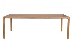 Tisch Natur-braun, Esstisch Farbe Naturholz, Breite 220 cm