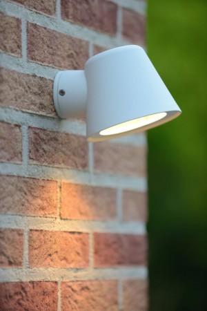 LED Wandleuchte weiß, LED Wand-Außenleuchte weiß, LED Außenlampe weiß