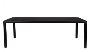 Tisch schwarz, Esstisch Farbe Naturholz, Breite 220 cm