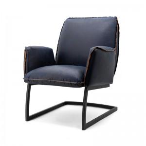 Sessel blau, Sessel mit Armlehne, Freischwinger -Sessel Industriedesign