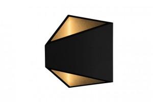 LED Außenleuchte schwarz, LED Wandleuchte schwarz Landhausstil,  LED Wandlampe schwarz Außenbeleuchtung