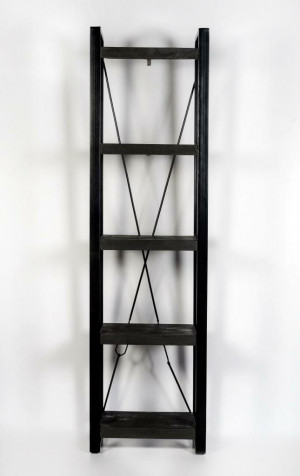 Regal schwarz Industriedesign, Metall Regal Industriedesign, Aktenregal schwarz Industrie,  Breite 55 cm