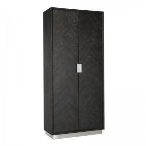 Schrank schwarz-Silber, Aktenschrank schwarz, Breite 100 cm