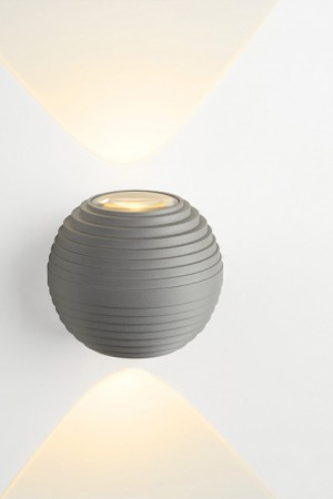 LED Außenleuchte grau, LED Wandleuchte grau,  LED Wandlampe grau