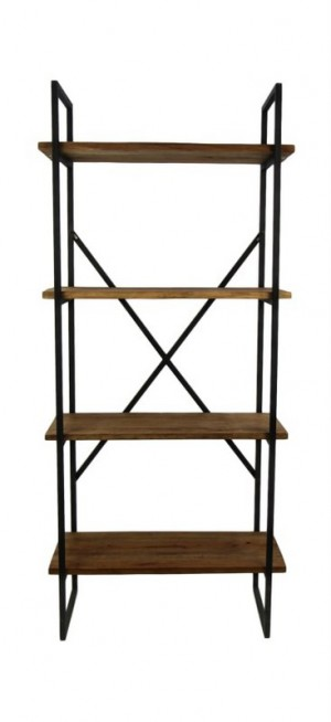 Regal Industriedesign Metall, Bücherregal Metall Landhaus,  Regal Metall, Breite 80 cm