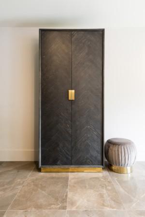 Schrank schwarz-gold, Aktenschrank schwarz, Breite 100 cm