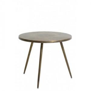 Beistelltisch rund Bronze, runder Tisch, Durchmesser 59 cm