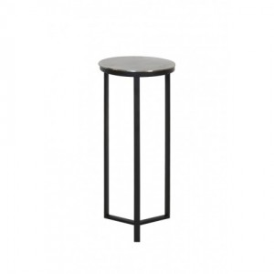 Dekosäule schwarz Metall, Säule Metall grau schwarz, Beistelltisch rund Metall,  Durchmesser 35 cm