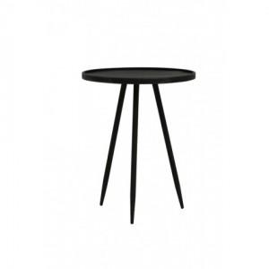 Beistelltisch schwarz Metall, runder Beistelltisch Metall schwarz, Beistelltisch rund Metall,  Durchmesser 40 cm