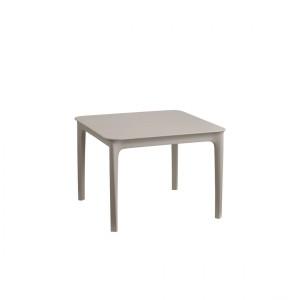Gartentisch taupe, Kunststoff Beitstelltisch taupe, Gartentisch Kunststoff taupe, Maße 60x60 cm