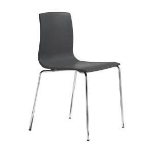 Stuhl anthrazit, Stuhl stapelbar verchromtes Gestell, Design Stuhl anthrazit