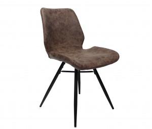 Design Stuhl in braun schwarz Industriestil