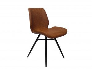 Design Stuhl in cognac schwarz Industriestil